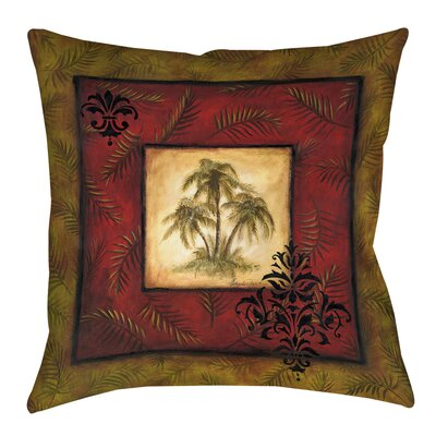 Palm Breezes Printed Throw Pillow Size: 18