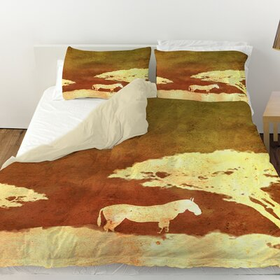 Safari Sunrise 3 Duvet Cover Size: Twin