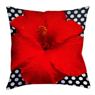 Floral Indoor/Outdoor Throw Pillow Size: 16 H x 16 W x 4 D