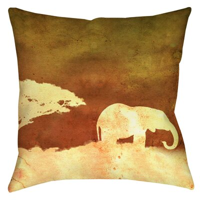 Safari Sunrise 1 Indoor/Outdoor Throw Pillow Size: 18 H x 18 W x 5 D