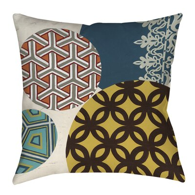 Paper Lanterns 1 Printed Throw Pillow Size: 26 H x 26 W x 7 D