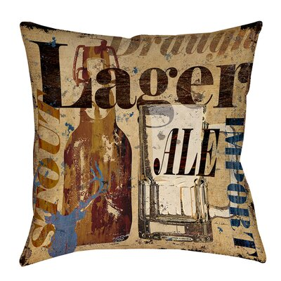 Old Lager Printed Throw Pillow Size: 14 H x 14 W x 3 D