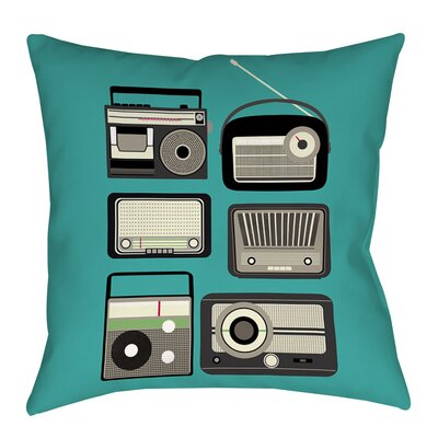 Radios Printed Throw Pillow Size: 26 H x 26 W x 7 D