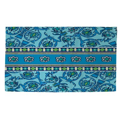 New Beginnings Blue Area Rug Rug Size: 4 x 6