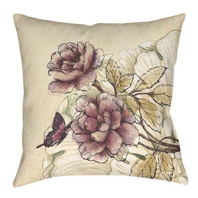Rosette Butterfly Printed Throw Pillow Size: 20 H x 20 W x 5 D