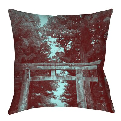 Nikko Gate Printed Throw Pillow Size: 16 H x 16 W x 4 D
