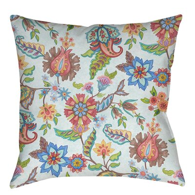Shangri La Floral Indoor/Outdoor Throw Pillow Size: 18 H x 18 W x 5 D, Color: Natural