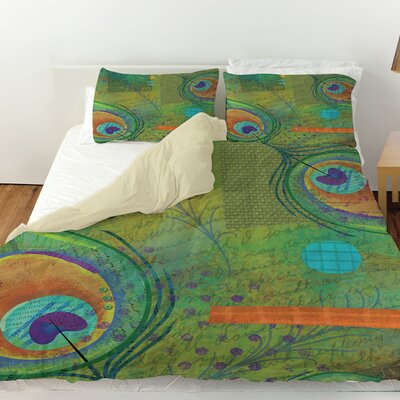Peacock Pattern 2 Duvet Cover Size: King