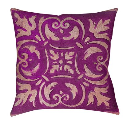 Samford Indoor/Outdoor Throw Pillow Size: 18 H x 18 W x 5 D, Color: Purple