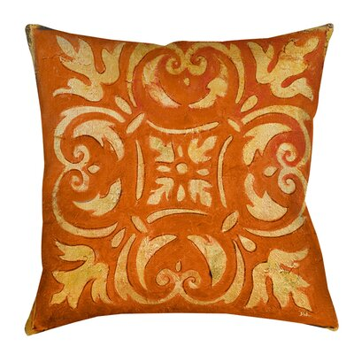 Samford Indoor/Outdoor Throw Pillow Size: 18 H x 18 W x 5 D, Color: Orange