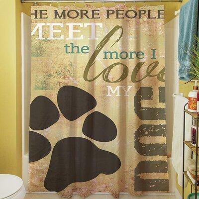 People vs Dog Shower Curtain