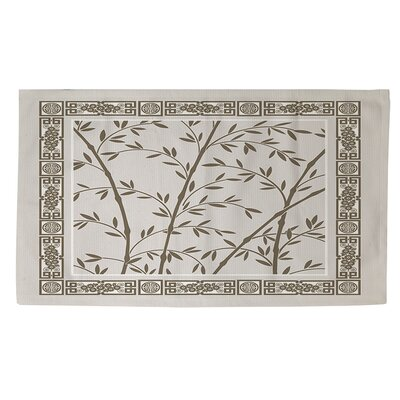 Oriental Treasure Cream/Green Area Rug Rug Size: 4 x 6