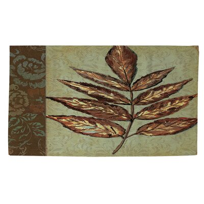 Golden Leaf 2 Area Rug Rug Size: 4 x 6