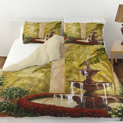 Palm Garden II Duvet Cover Size: Queen