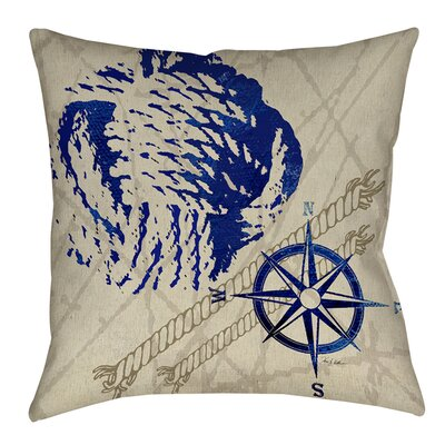 Nautical Rope Printed Throw Pillow Size: 14 H x 14 W x 3 D