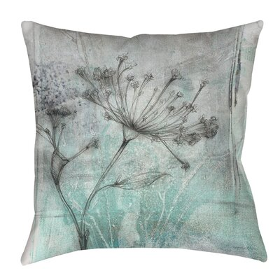 Ombre Wildflowers 1 Indoor/Outdoor Throw Pillow Size: 16 H x 16 W x 4 D