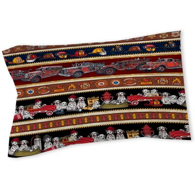 Fire House Stripe Sham Size: Queen/King
