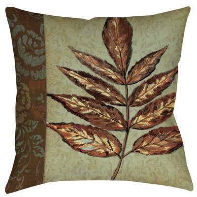 Golden Leaf 2 Indoor/Outdoor Throw  Pillow Size: 18 H x 18 W x 5 D