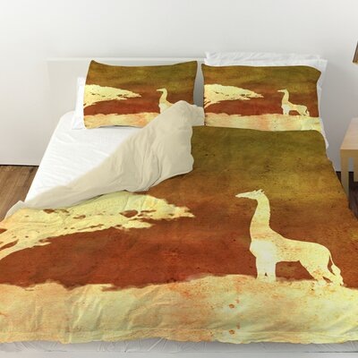 Safari Sunrise 4 Duvet Cover Size: Queen