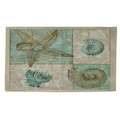 Sea Life 1 Blue/Grey Area Rug Rug Size: 4 x 6