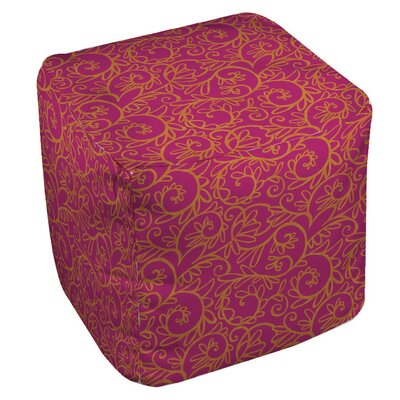 Funky Swirl Pouf Upholstery: Pink
