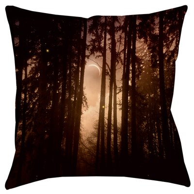 Forest Skyline Indoor/Outdoor Throw Pillow Size: 16 H x 16 W x 4 D