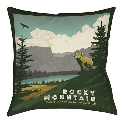 Rocky Mountain National Park Indoor/Outdoor Throw Pillow Size: 20 H x 20 W x 5 D