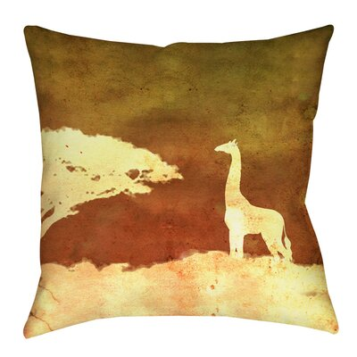 Safari Sunrise 4 Indoor/Outdoor Throw Pillow Size: 20 H x 20 W x 5 D