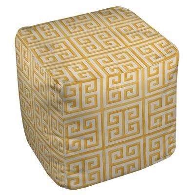 Greek Key Ottoman Upholstery: Yellow