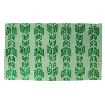 Featherwood Green Area Rug Rug Size: 2 x 3