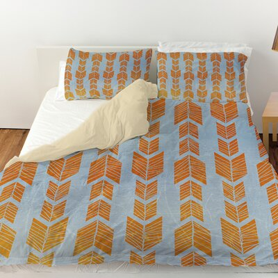 Featherwood Duvet Cover Size: Queen, Color: Orange
