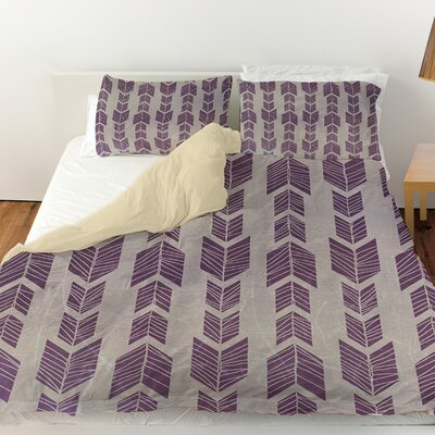 Featherwood Duvet Cover Size: Queen, Color: Purple