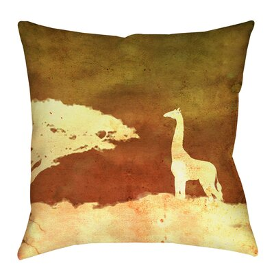 Safari Sunrise 4 Printed Throw Pillow Size: 20 H x 20 W x 5 D