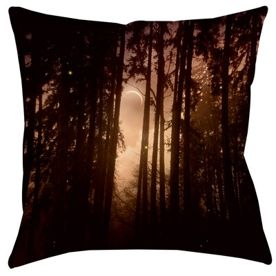 Forest Skyline Printed Throw Pillow Size: 14 H x 14 W x 3 D
