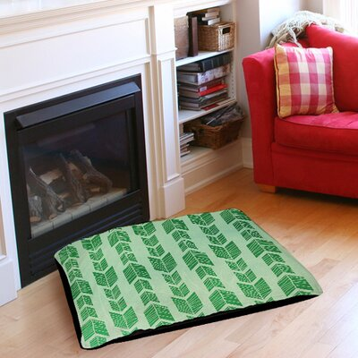 Featherwood Pet Bed Size: 40 L x 30 W, Color: Green