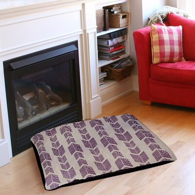 Featherwood Pet Bed Size: 50 L x 40 W, Color: Purple