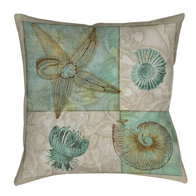 Averill Sea Life 1 Printed Throw Pillow Size: 14 H x 14 W x 3 D
