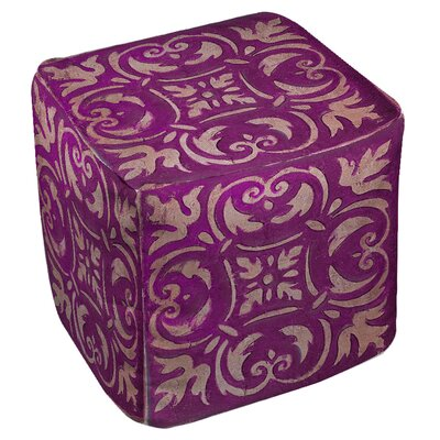 Samford Pouf Upholstery: Purple