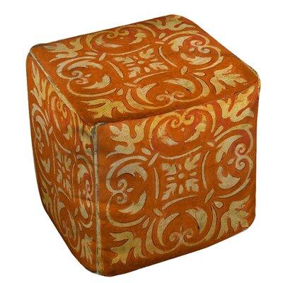 Samford Pouf Upholstery: Orange