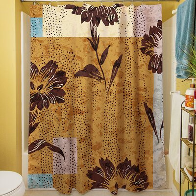 Floral Study in Blocks Shower Curtain