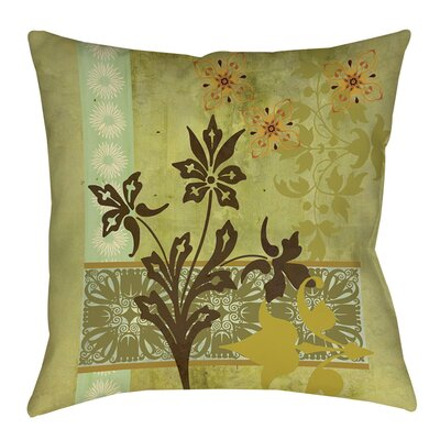 Collage Blossoms Indoor/Outdoor Throw Pillow Size: 16
