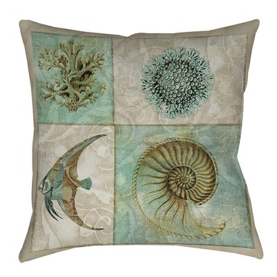 Sea Life Printed Throw Pillow Size: 26 H x 26 W x 7 D