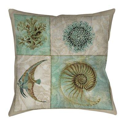 Sea Life Printed Throw Pillow Size: 14 H x 14 W x 3 D
