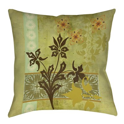 Collage Blossoms Printed Throw Pillow Size: 16