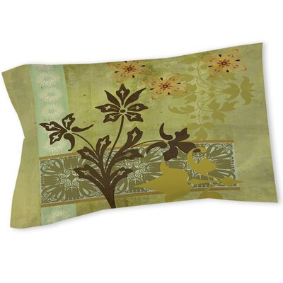 Patterned Collage Blossoms Sham Size: Queen/King