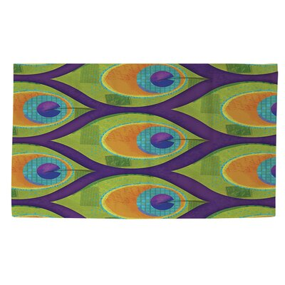 Peacock Pattern 10 Area Rug Rug Size: 4 x 6