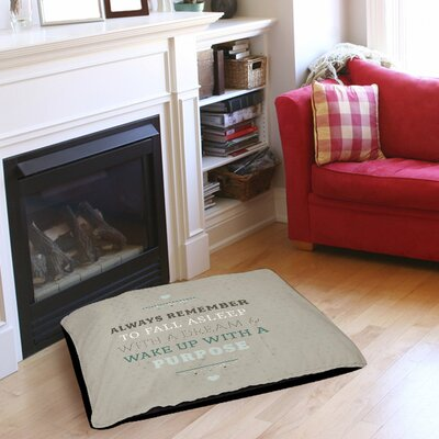 Purposeful Dream Indoor/Outdoor Pet Bed Size: 50 L x 40 W