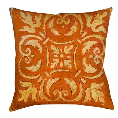 Samford Printed Throw Pillow Size: 26 H x 26 W x 7 D, Color: Orange