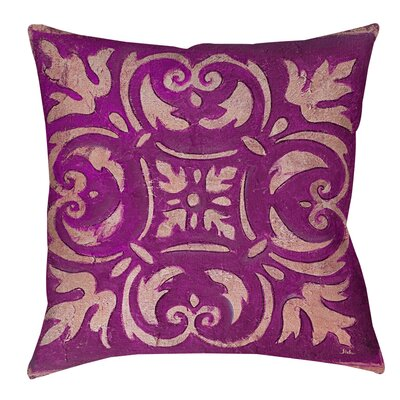 Samford Printed Throw Pillow Size: 18 H x 18 W x 5 D, Color: Purple