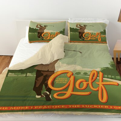 Golf Bad Day Duvet Cover Size: Queen